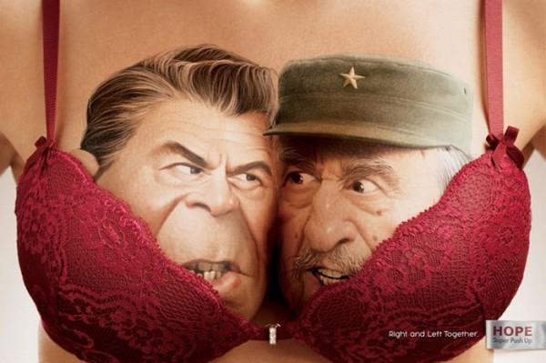 Буш-старший и Фидель Кастро