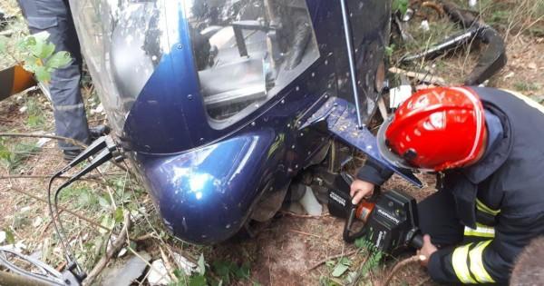 У пилота множественные травмы и перелом ноги