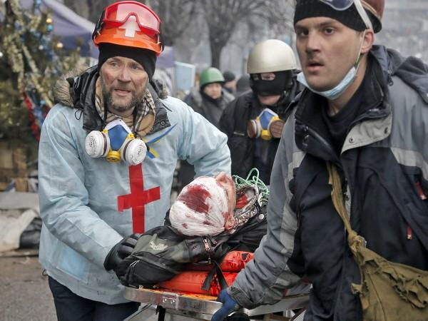 Раненые протестующие