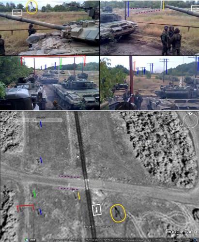 Танк Т-90А заметили у села Лысое в Луганской области