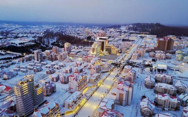 Самчжиён - город небольшой, всего 2-3 км в диаметре, и его легко обойти пешком