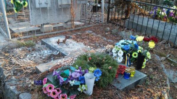 Могила Гуцало без памятника