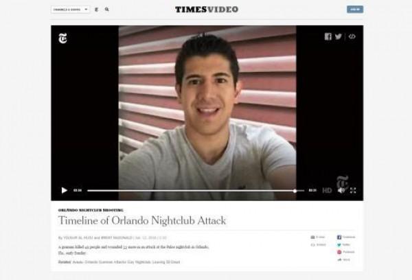 Фото якобы пострадавшего мужчины появилось и в сюжете после стрельбы в гей-клубе в Орландо