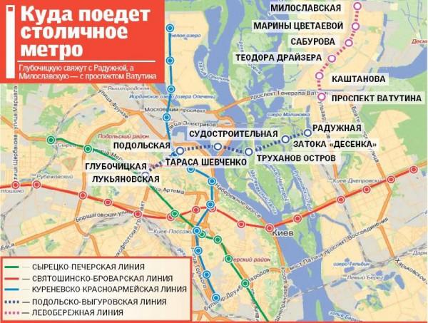 строить метро на Троещину