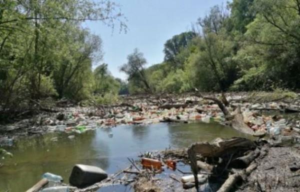 В Венгрию и Словакию речное течение несет гору мусора