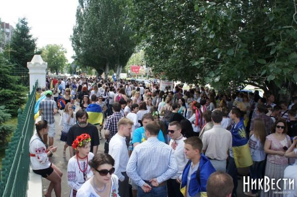 Жители Николаева хотят сохранить целостность Украины
