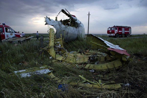 Сбитый в Донецкой области самолет Боинг-777
