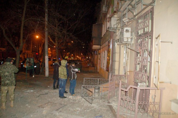 Взрыв произошел возле офиса Автомайдана