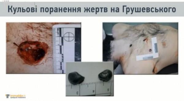 Ранения убитых на Грушевского активистов