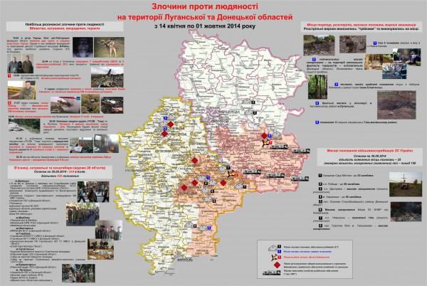 Карта преступлений террористов ДНР и ЛНР от СБУ