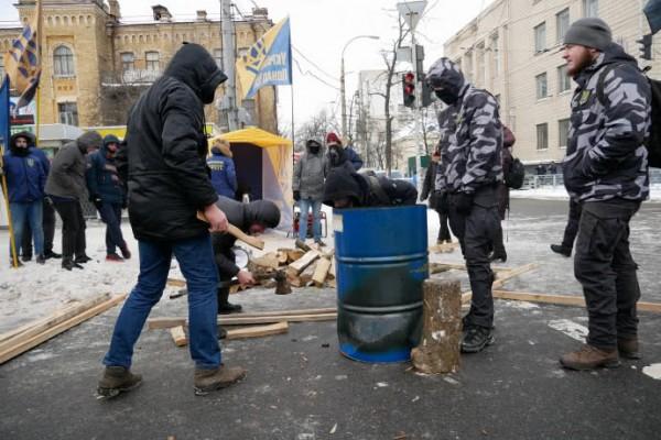 Националисты возле посольства РФ