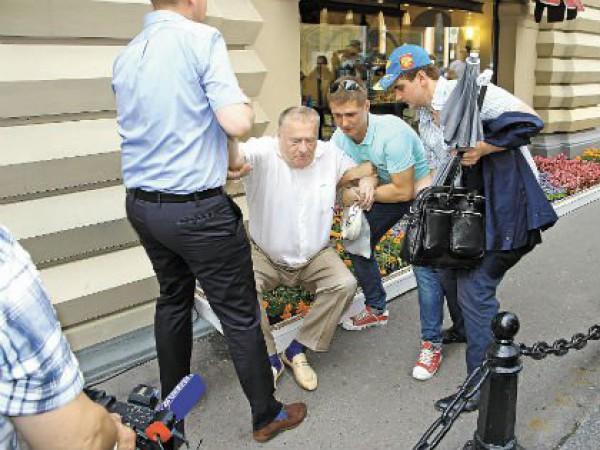 Жириновский раздавил клумбу