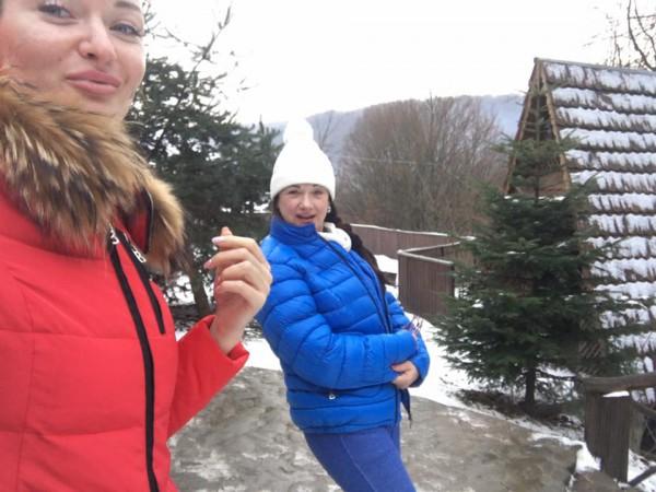 Наталья с мамой отдыхают на Рождество