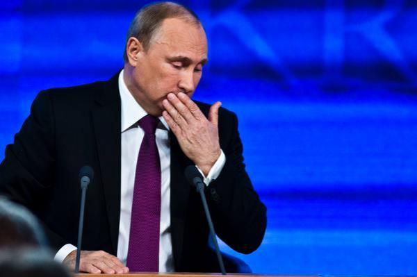 Путин во время пресс-конференции много кашлял