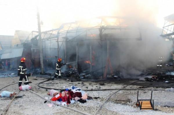 Предполагаемая причина возгорания и ущерб устанавливаются