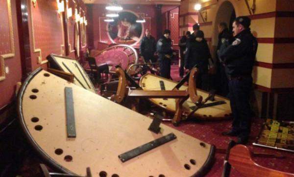 Погром казино в Запорожье