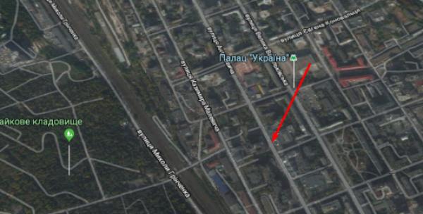 Издание точно указало на карте место происшествия