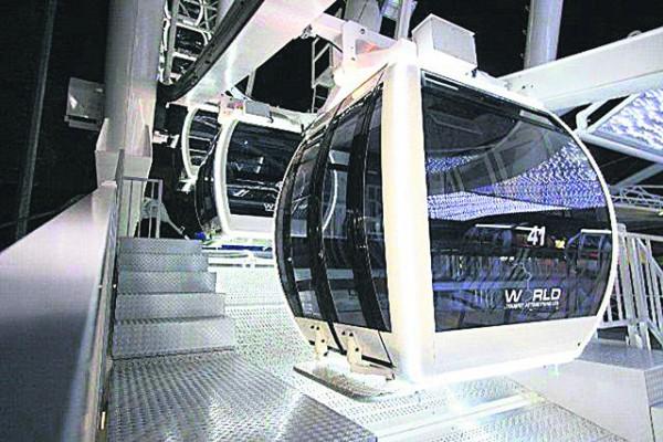 На колесе обозрения будет смонтировано 36 кабинок на 8 человек каждая