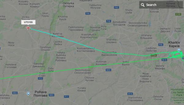 Самолет из Ниццы сделал пять кругов над Харьковом