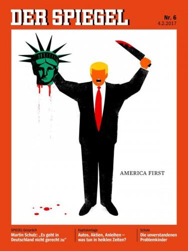 Обложка символизирует обезглавленную демократию