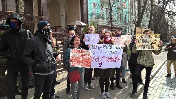 Акции солидарности с белорусской оппозицией прошли в Киеве и Харькове