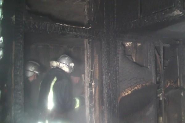 При пожаре погиб один человек