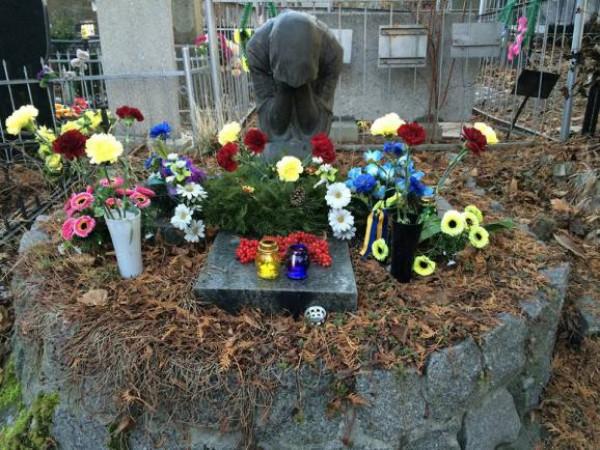 Так выглядела могила 14 января 2015 года