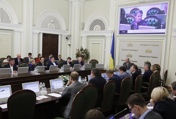 Юлия Тимошенко в новом наряде во время заседания