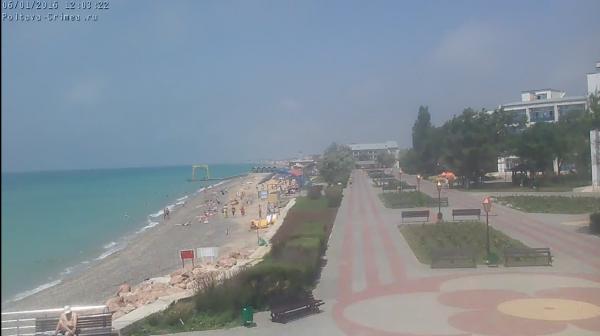 Саки, пляж санатория Полтава