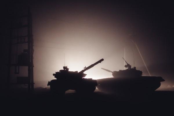 Техника боевиков под Дебальцево
