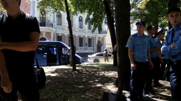 Беспорядки в центре Харькова