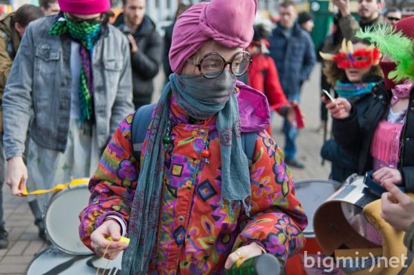 Акция феминисток на Европейской площади