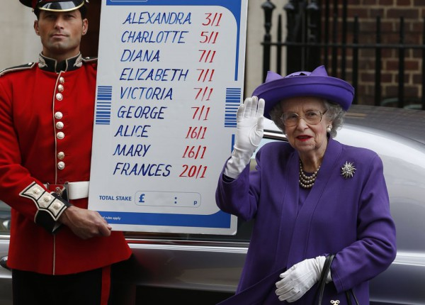 Даже королева не удержалась, чтобы не поставить на имя наследника
