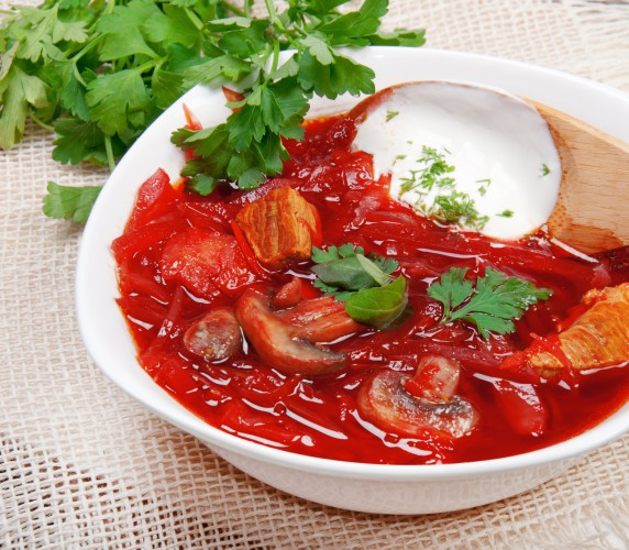 Борщ - самое любимой украинское блюдо