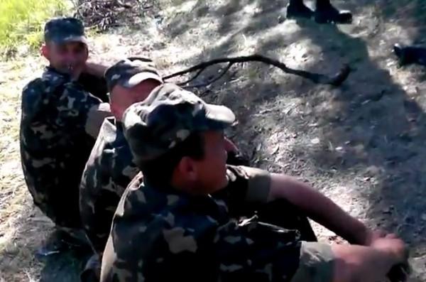 Украинские солдаты возле Волновахи