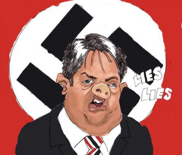 Карикатура на лидера Британского единства