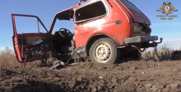 Характер повреждений машины четко показывают минный подрыв