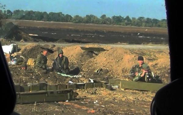 Российские военные под Иловайском
