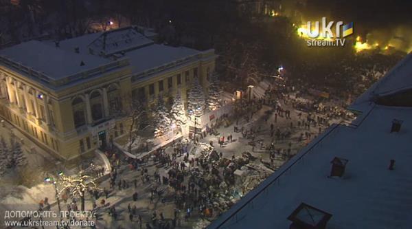 Новые баррикады на Грушевского