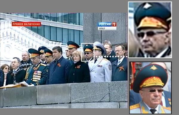 Сам генерал заявляет, что не покидал Екатеринбург с 2012 года
