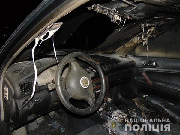 Машина сильно обгорела