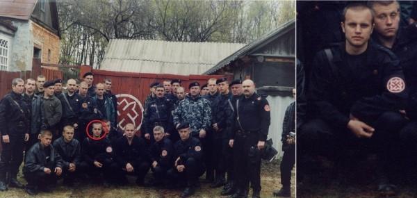 Губарев среди товарищей из Русского Национального Единства