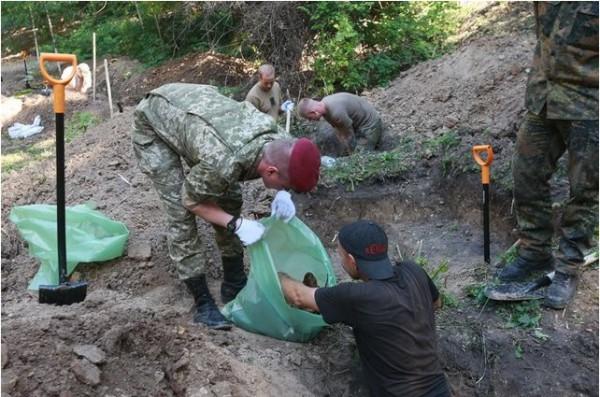 На Аскольдовой могиле нашли останки 600 немецких солдат