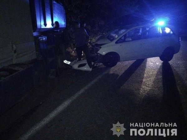 Машины столкнулись у села Благодатное
