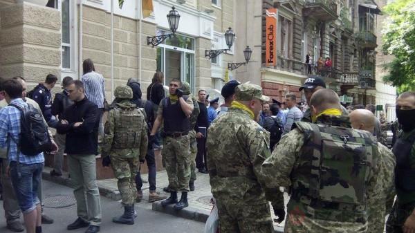 Представители Самобороны Одессы на Успенской