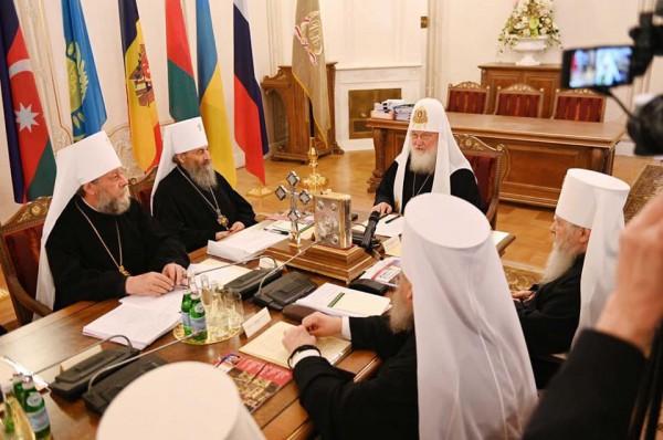 Заседание синода РПЦ прошло под предводительством патриарха Кирилла