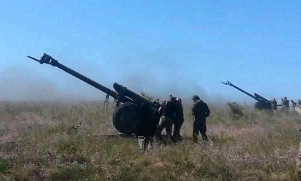 Боевики используют тяжелую технику