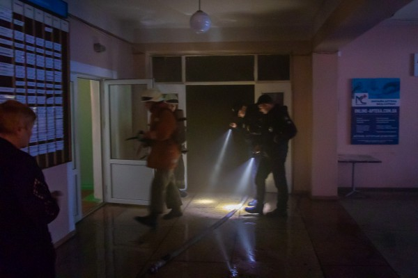 Возгорание произошло на первом этаже