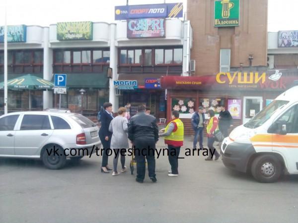 ВКиеве шофёр Савченко сбил пенсионерку