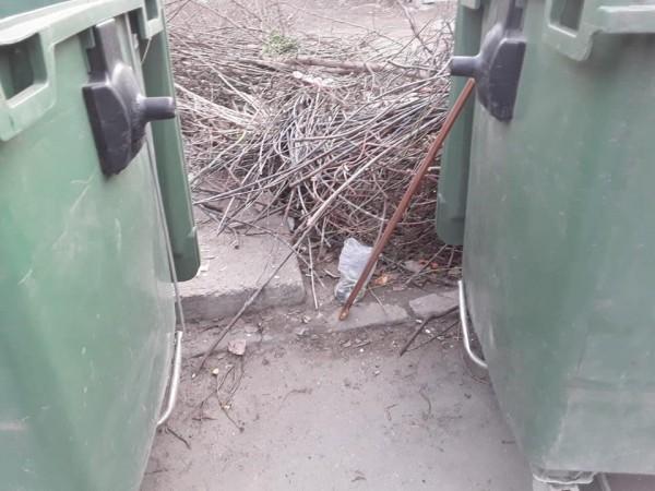 Пакет находился возле мусорных баков больницы
